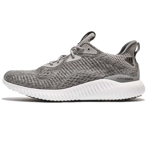 Adidas Grey Made In adidas alphabounce em m engineered mesh grey white