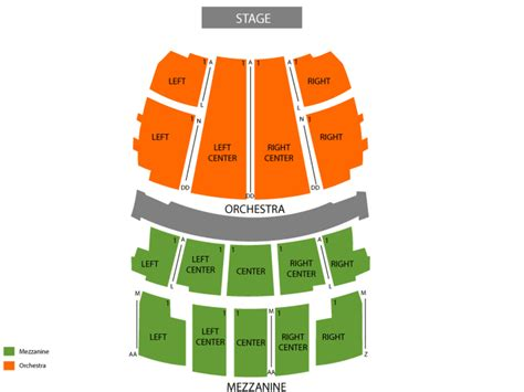 peabody opera house seating chart peabody opera house seating chart and tickets
