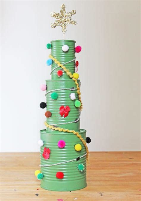 tin can christmas tree allfreekidscrafts com