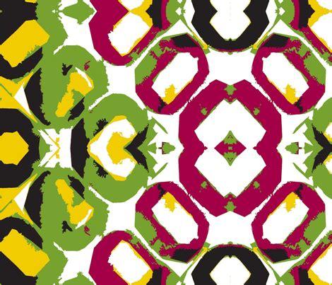 Olive Magenta Flower floor tiles goldenrod olive magenta fabric