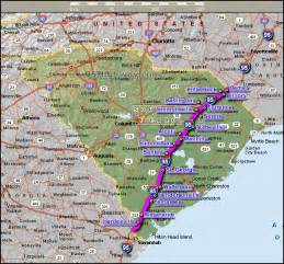 and south carolina road map index of images