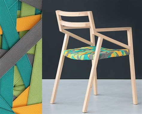Minimalist Wood Chair by Trendy Minimalist Wood Chair Wrapped In Multicolored
