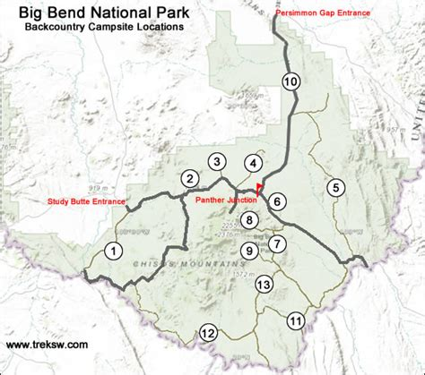 big bend national park texas map backcountry cing in big bend national park the complete guide