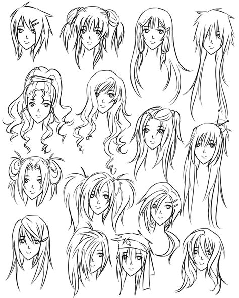 hairstyles of anime anime drawing hair ideas www pixshark com images
