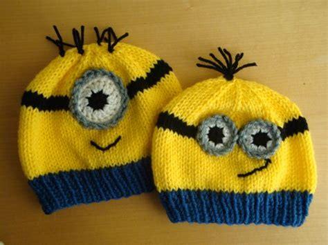 knitting pattern minion despicable me minion hat inspired from despicable me child size or