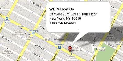 w.b. mason locations