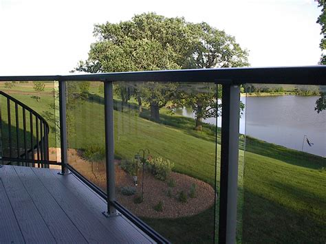 Glass Patio Railing Systems by Deck Railing With Glass Panels See 100s Of Deck Railing
