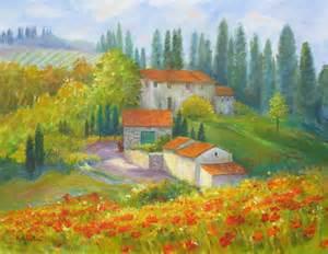 rosanne kaloustian art tuscany landscape