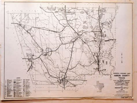 hardin county texas map original hardin county texas state highway department map kountze silsbee ebay