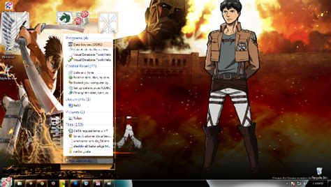 google theme attack on titan theme win 7 shingeki no kyojin theme anime windows