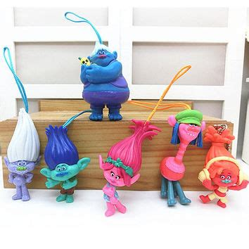 Figure 6pcs 343 shop trolls toys on wanelo