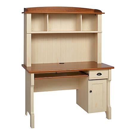 Office Depot Office Desks Sale Realspace Shore Mini Solutions Computer Desk With Hutch Antique White By Office Depot Officemax