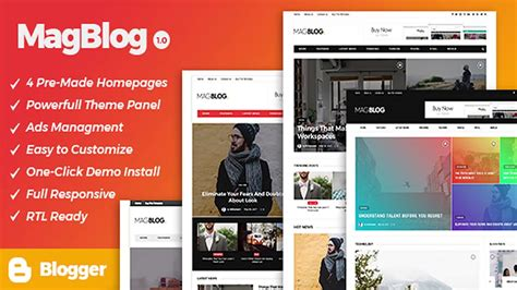 news website templates for blogger magblog news editorial magazine blogger theme