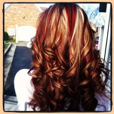 highlights and lowlights for red hair brown hair with caramel highlights and red lowlights