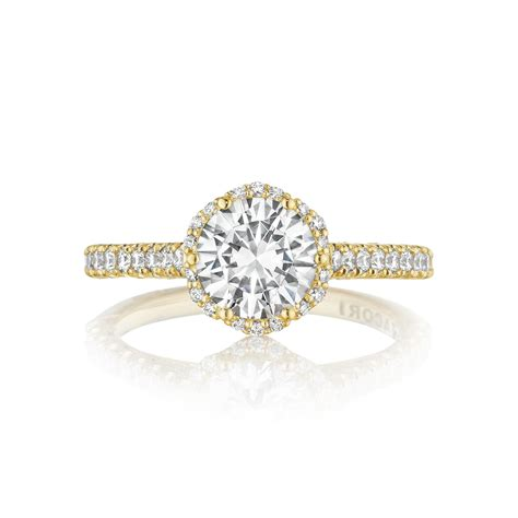 Gold Engagement Rings by Tacori Engagement Rings Gold Floral Halo Setting