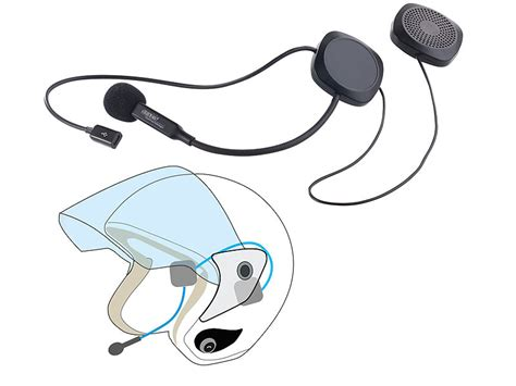 Motorrad Helm Headset by Auvisio Motorrad Headset Stereo Headset Mit Bluetooth 4 1