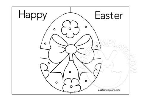 easter card templates to colour easter pop up card coloring page easter template