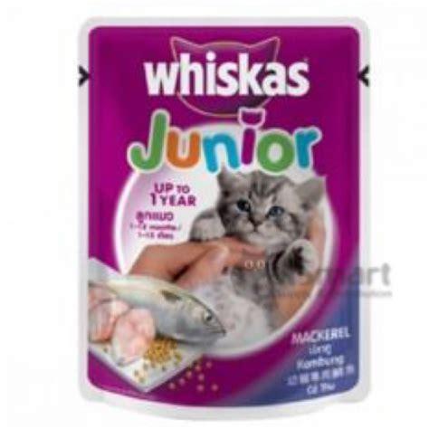 Whiskas Mackerel whiskas pouch junior mackerel 85g