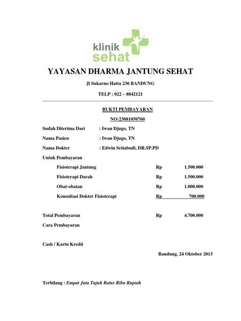 Herunterladen Kwitansi Pembayaran Rumah Sakit Bandung Alagmy