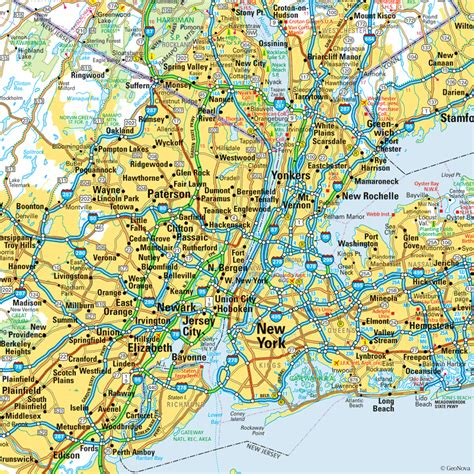 map of new york map of new york city area new york map