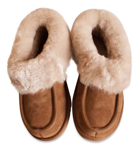 slippers sheepskin nordvek womens genuine sheepskin slippers boots
