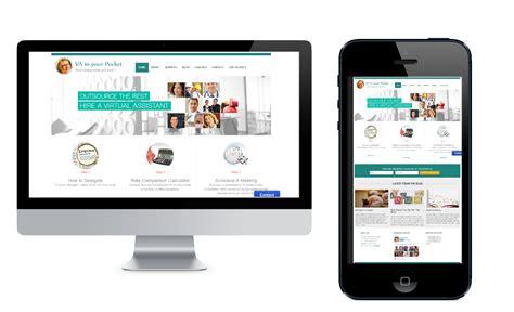 web layout for mobile and desktop rockinwebsites a va in your pocket rockinwebsites