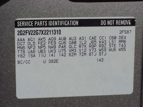 service parts identification decoder autos post