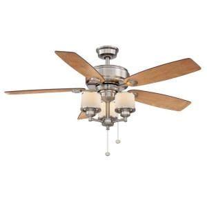 harbor breeze 52 in avian brushed nickel ceiling fan with