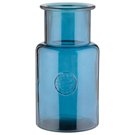 buy recycled vases teal from our vases bowls range tesco