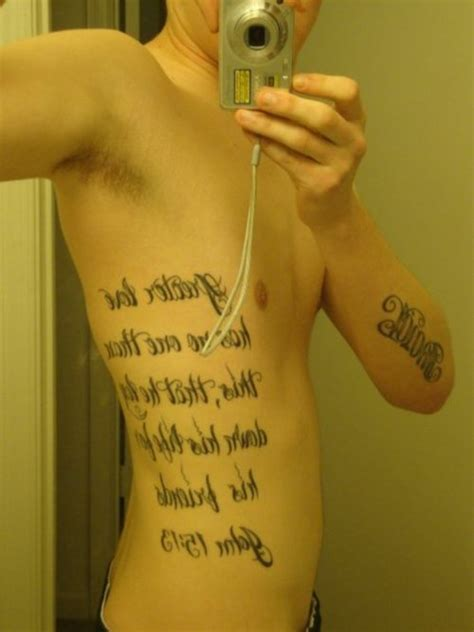 rib tattoos for men quotes rib quotes for quotesgram