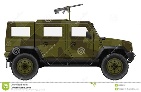 ww2 jeep with machine gun vehicle with machine gun stock illustration