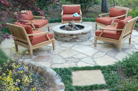 bench tree group llc homemade fire pit from rocks and tree stumps for stools