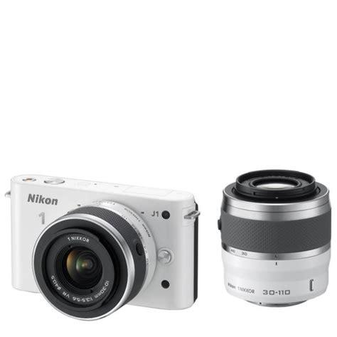 Lensa Nikon J1 30 110 Nikon 1 J1 Compact System With 10 30mm And 30 110mm Lens Kit White 10 1mp 3