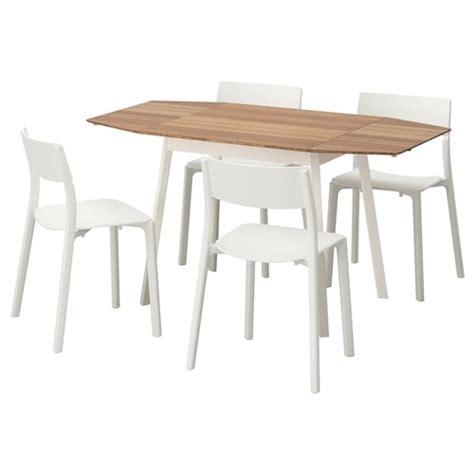 ikea masa ikea ps 2012 yemek masası ve sandalye seti bambu beyaz 138