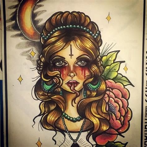 tattoo flash girl 24 best tattoo flashes by lidia misfit images on pinterest