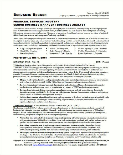 Biotech Resume Advice Business Analyst Resume Sle And Tips