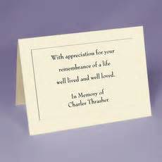 funeral acknowledgement cards template sympathy cards personalized sympathy acknowledgement