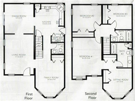 House Plans And Images by 4 Bedroom 2 Story House Plans 2 Story Master Bedroom Two