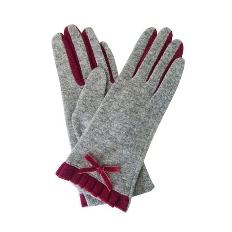 10 Warm Winter Accessories by New Womens Winter Evening Wool Warm Gloves Pleated Bow Two