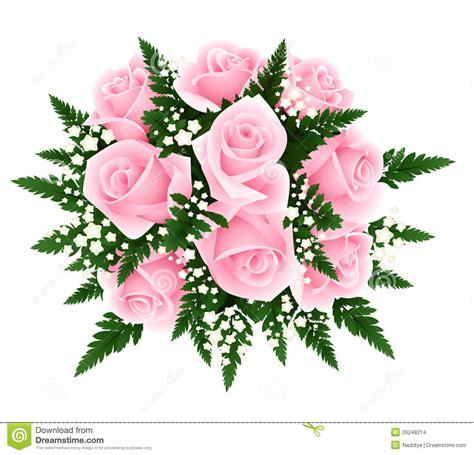 imagens de flores e rosas ramalhete de rosas cor de rosa com fern e gypsophila ve