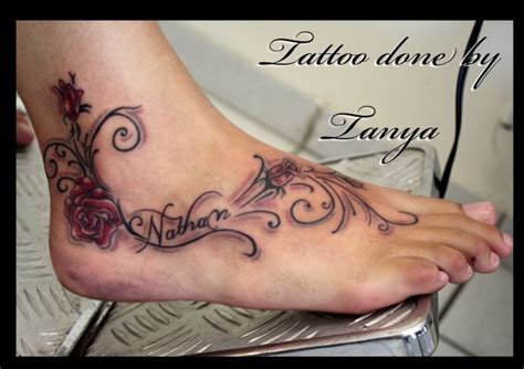 name tattoo designs on foot name ideas photo gallery pt piercing