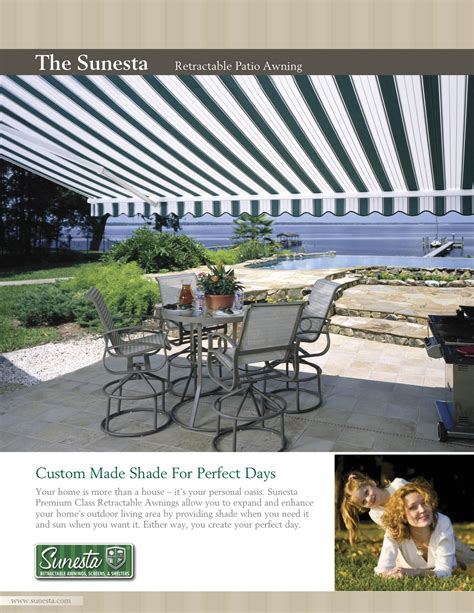 Sunesta Awnings Reviews by Retractable Awning Ta Sunbrella Clearwater Shade