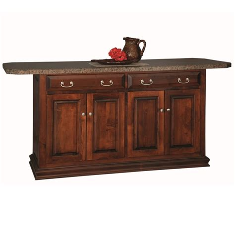 amish kitchen island traditional 58 quot island custom kitchen islands amish
