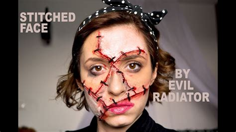 stitches face stitches stitched up sfx makeup tutorial