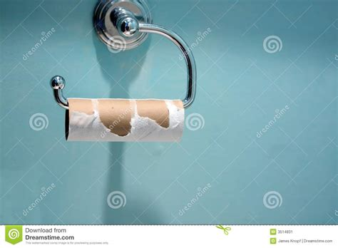 Toilet Paper Hanger by Empty Toilet Paper Roll Stock Image Image 3514831