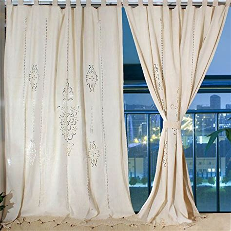 102 inch curtains ourwarm cotton shower curtain linen crochet curtain panel