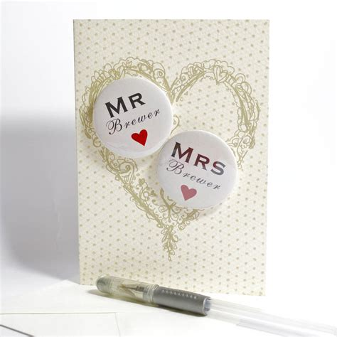 Wedding Card Card by Personalised Mini Magnets Wedding Card By Bedcrumb