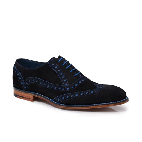 mens suede shoes barker grant navy blue suede leather mens brogue shoes