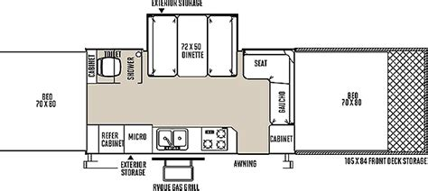 pop up cer floor plans tent trailer floor plans rockwood tent pop up cer by