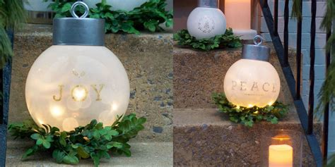 diy oversized christmas ornaments giant
